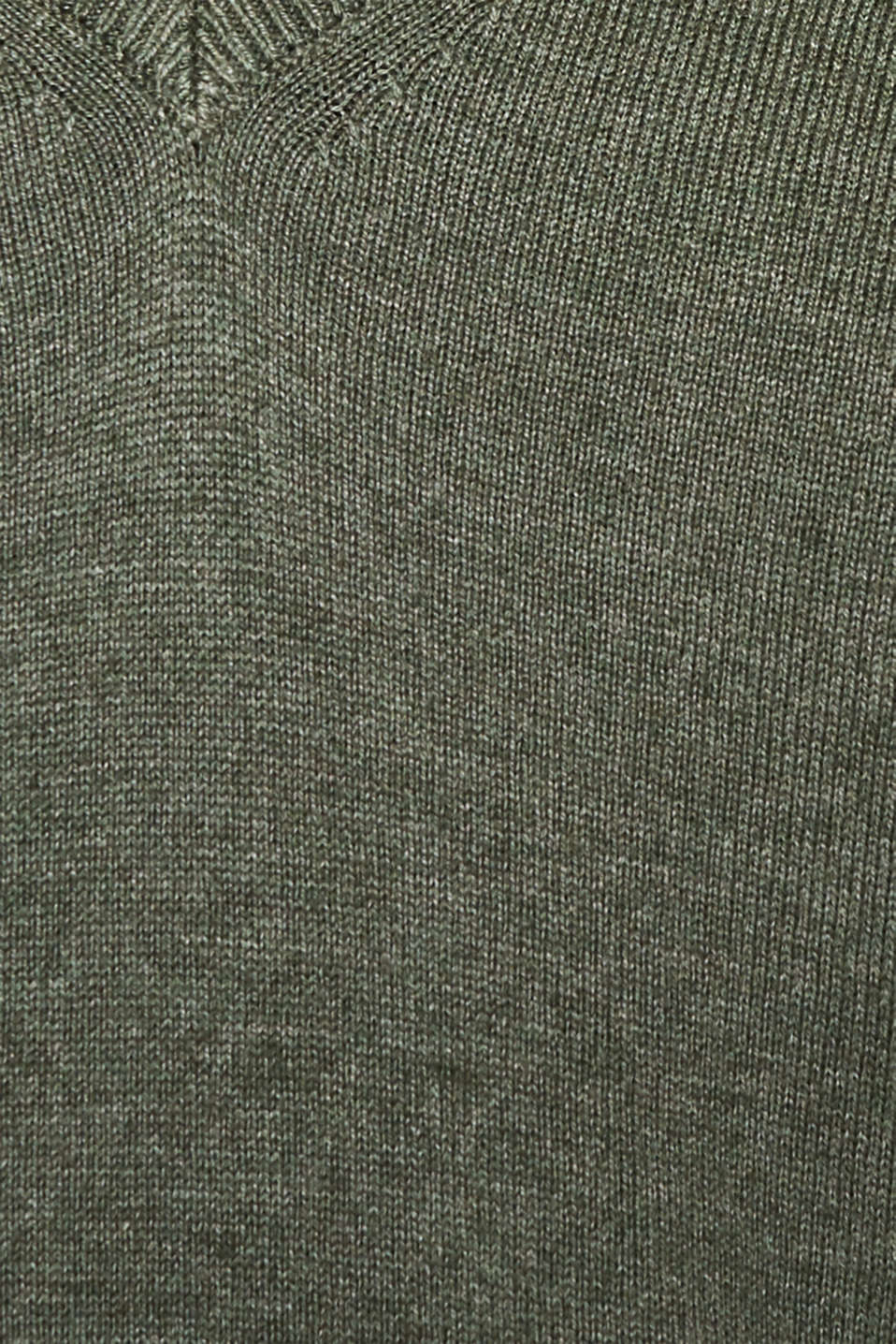 Jumper with inside-out seams, KHAKI GREEN 5, detail image number 4