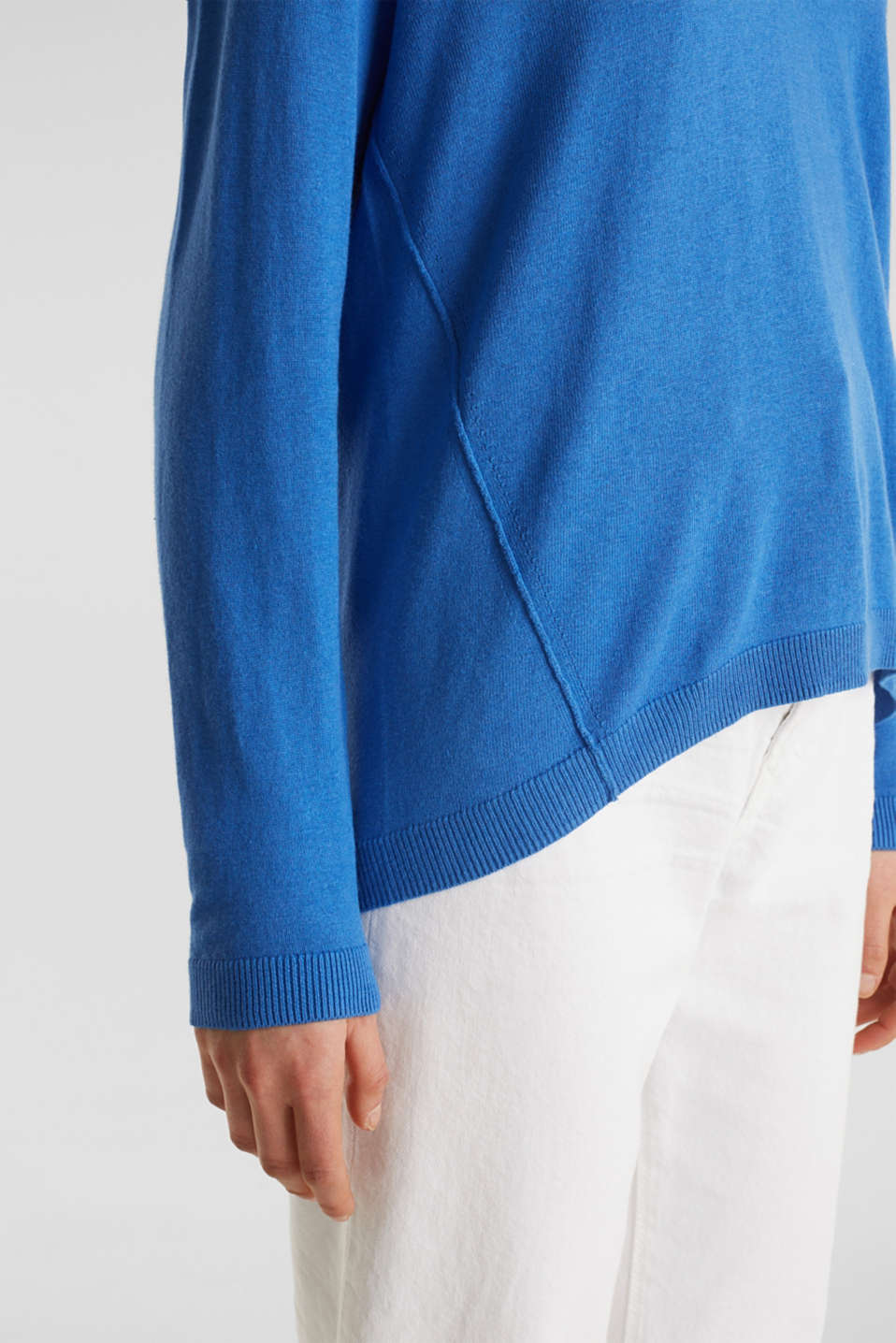 Jumper with inside-out seams, BRIGHT BLUE, detail image number 2