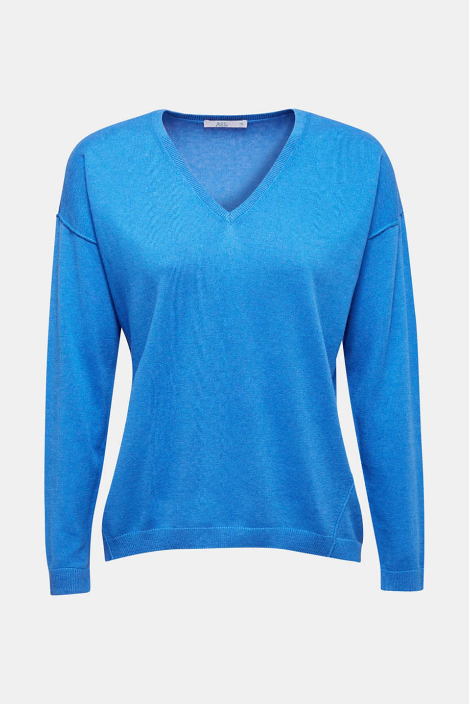 Jumper with inside-out seams, BRIGHT BLUE, detail image number 6