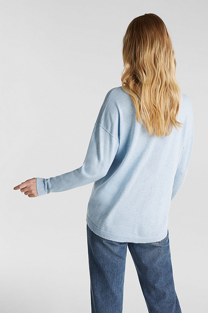 Jumper with inside-out seams, LIGHT BLUE 5, detail image number 2