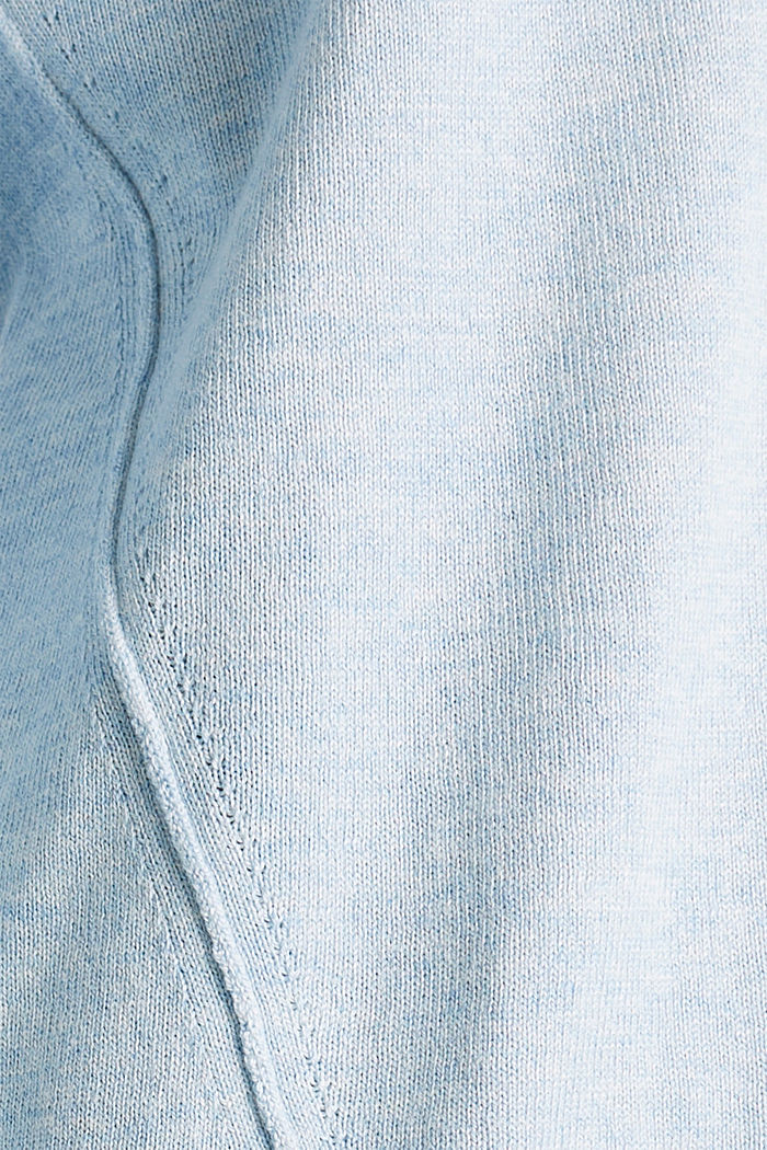 Jumper with inside-out seams, LIGHT BLUE 5, detail image number 3