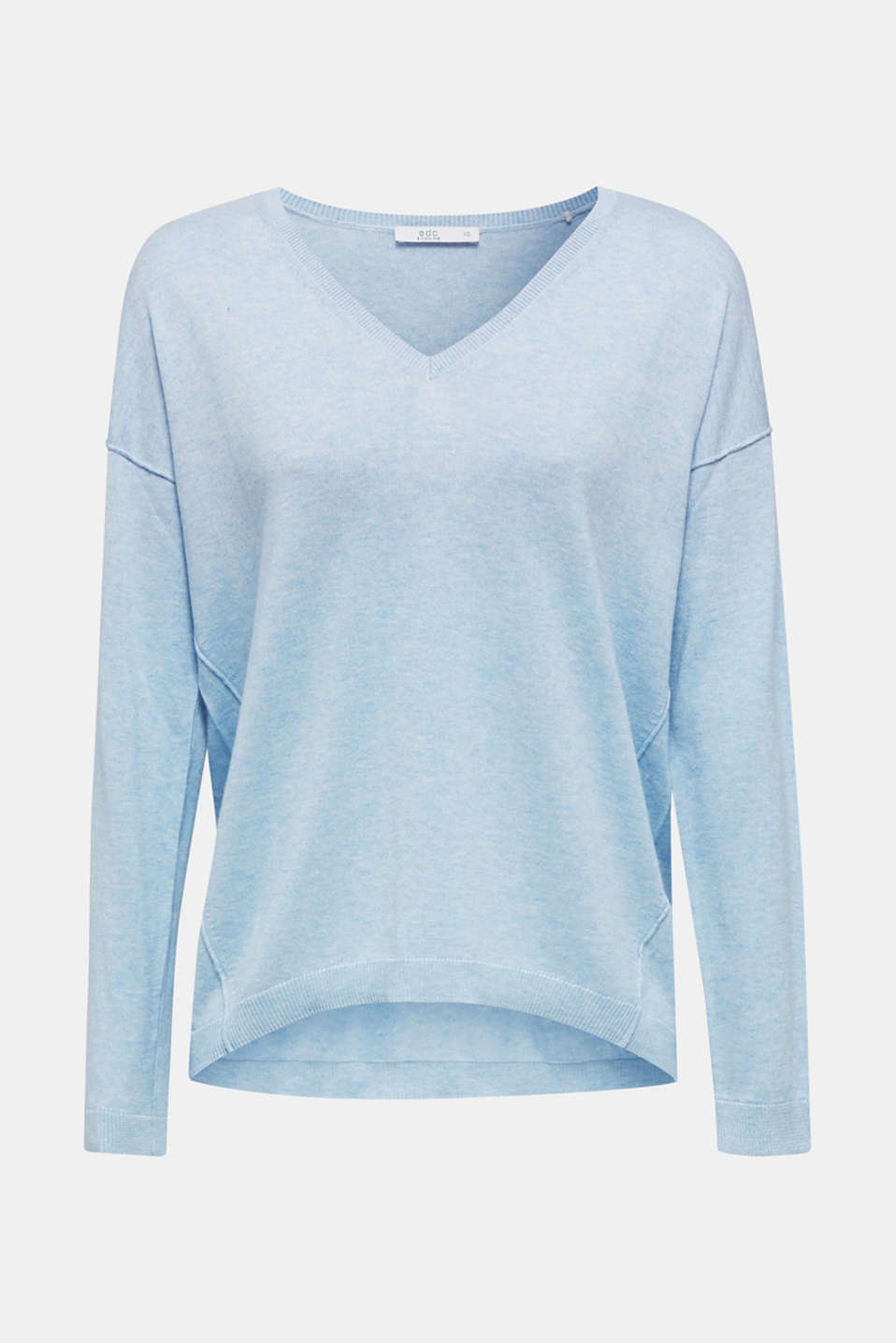 Jumper with inside-out seams, LIGHT BLUE 5, detail image number 6