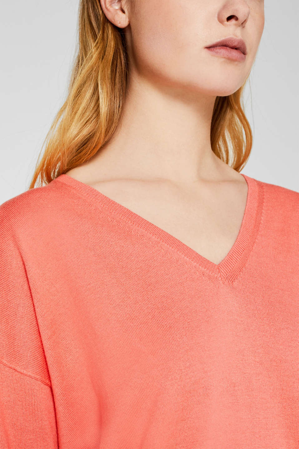 Jumper with inside-out seams, CORAL, detail image number 2