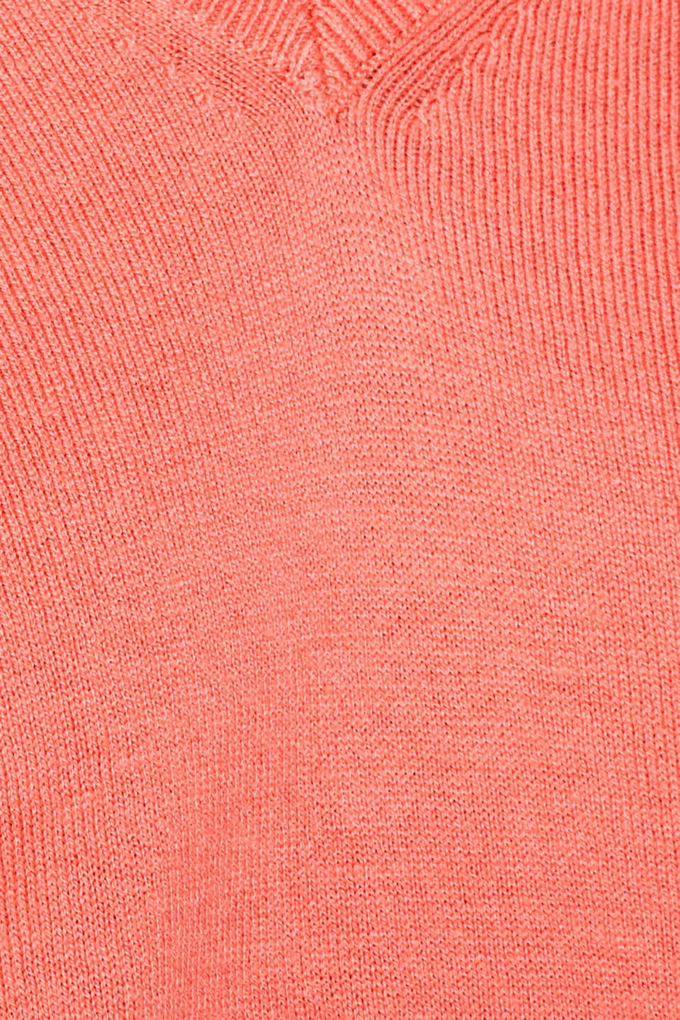 Jumper with inside-out seams, CORAL, detail image number 4