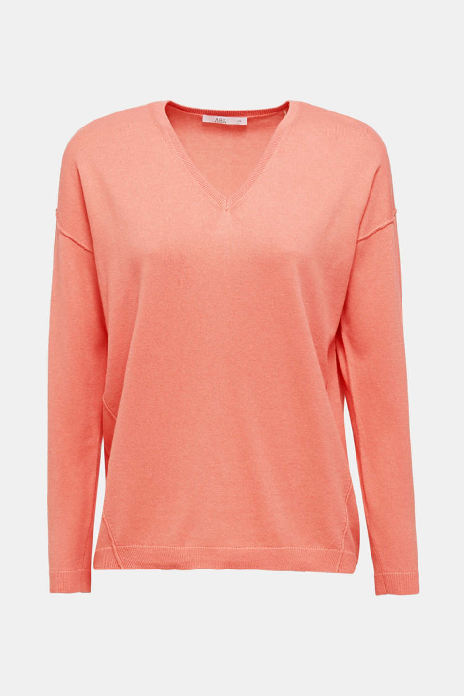 Jumper with inside-out seams, CORAL, detail image number 6