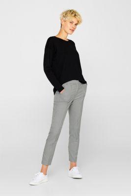 Fine knit jumper with on-trend details, BLACK, detail