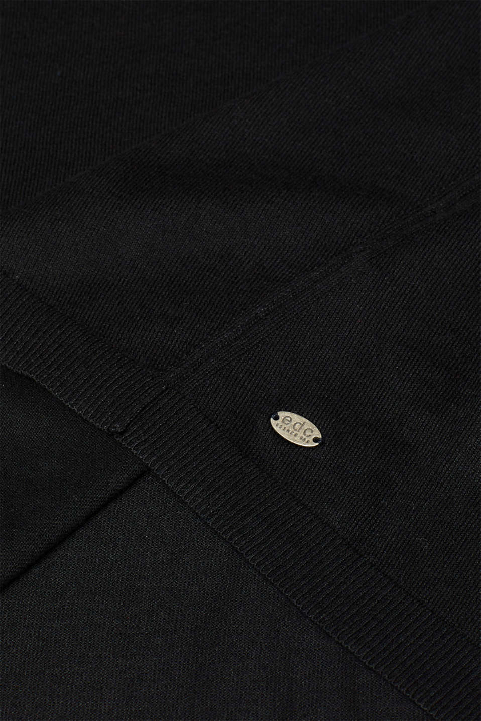 Fine knit jumper with on-trend details, BLACK, detail image number 4