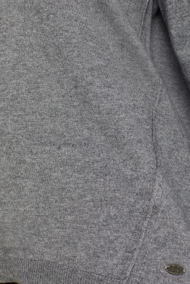 Fine knit jumper with on-trend details, GUNMETAL 5, detail