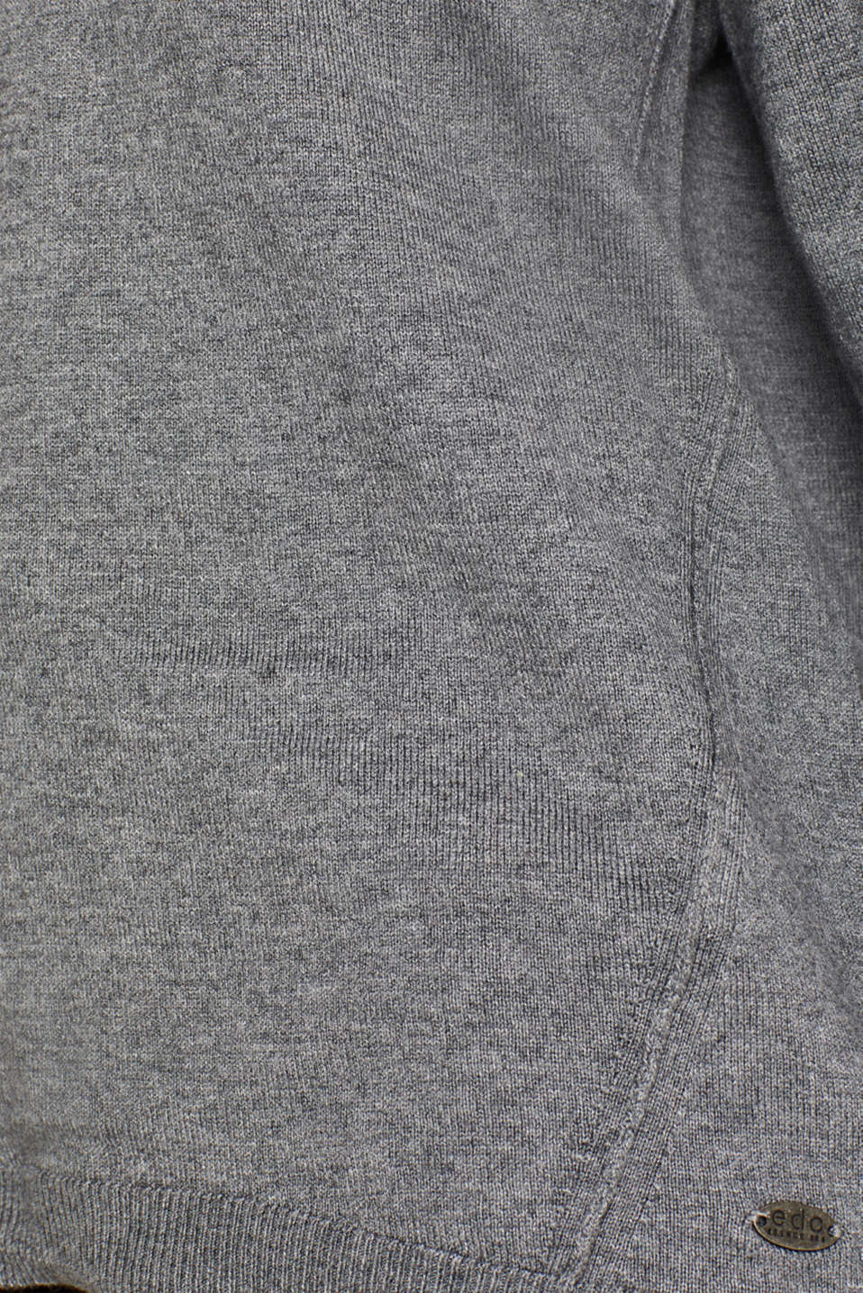 Fine knit jumper with on-trend details, GUNMETAL 5, detail image number 4