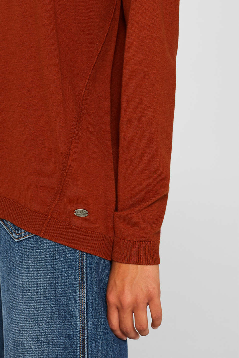 Sweaters, RUST BROWN 5, detail image number 2