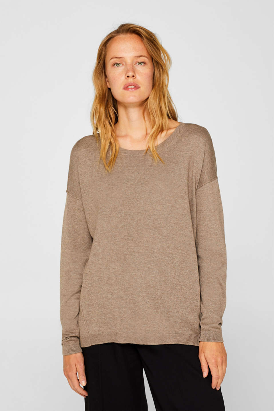 Sweaters, TAUPE 5, detail image number 0
