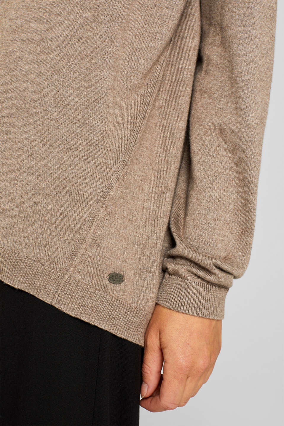 Sweaters, TAUPE 5, detail image number 2