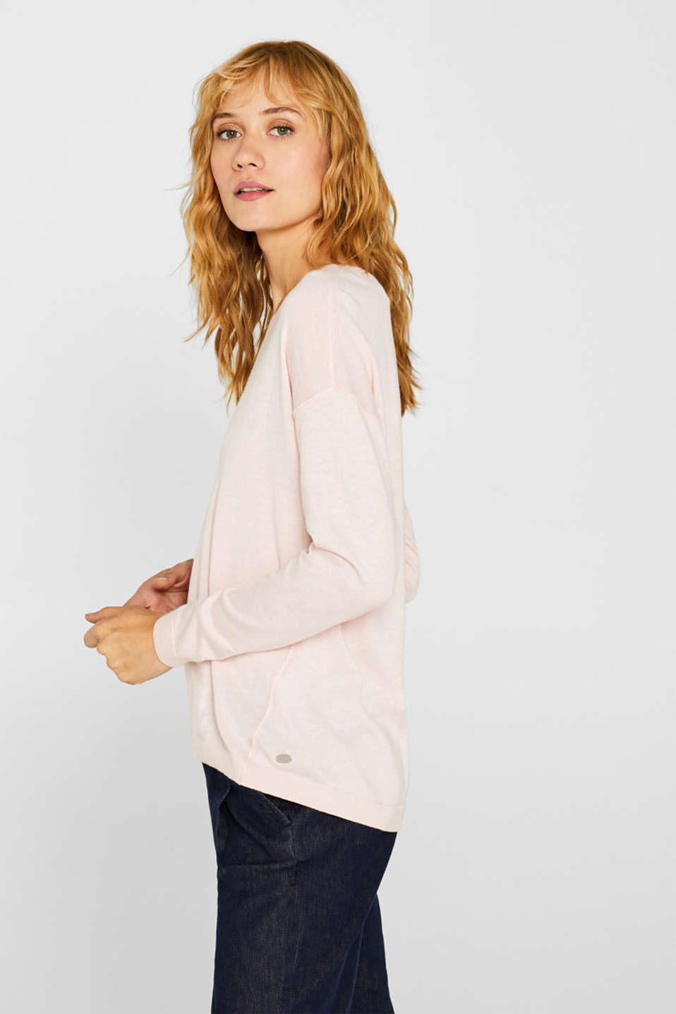 Sweaters, LIGHT PINK, detail image number 5