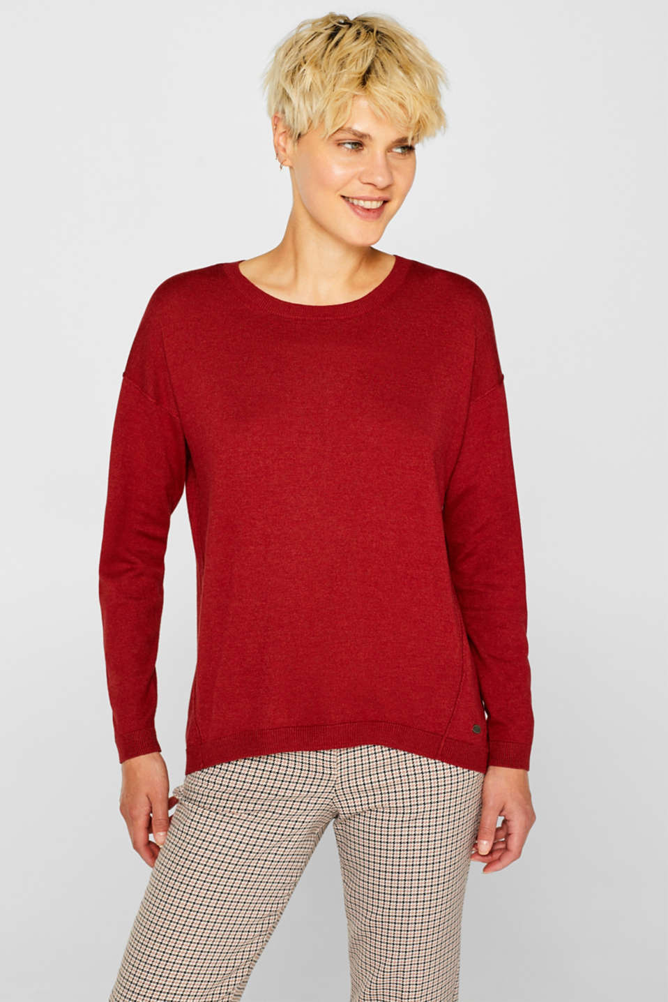 edc - Fine knit jumper with on-trend details