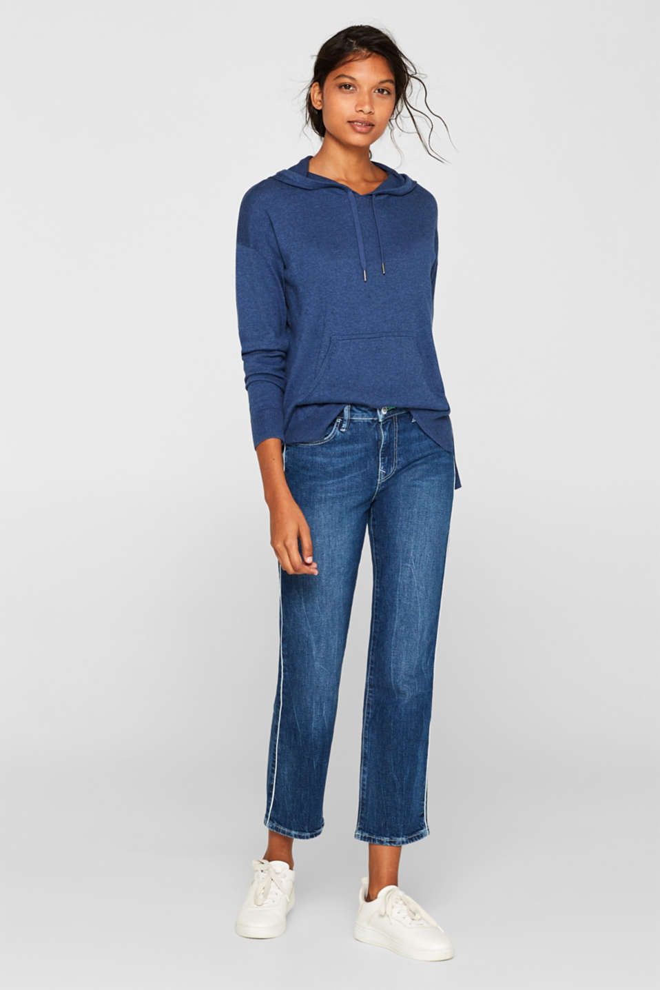Sweaters, DARK BLUE 5, detail image number 1