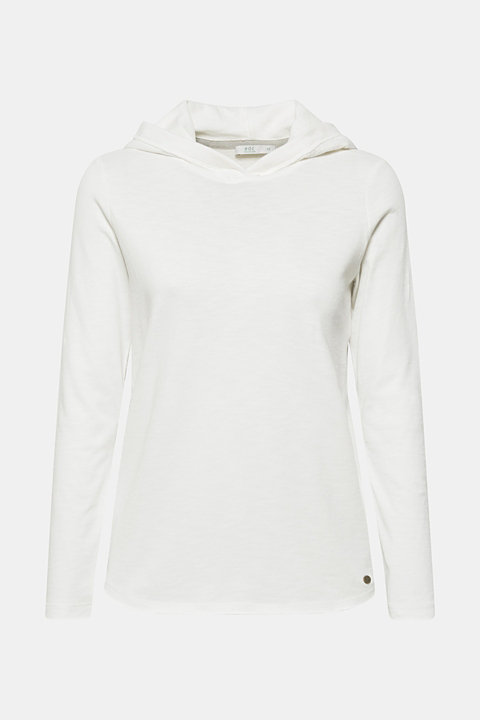 100% cotton hoodie containing organic cotton