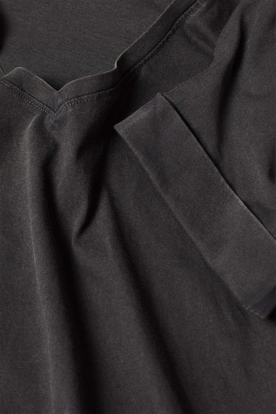 T-shirt with a casual cut, 100% cotton, BLACK, detail image number 4