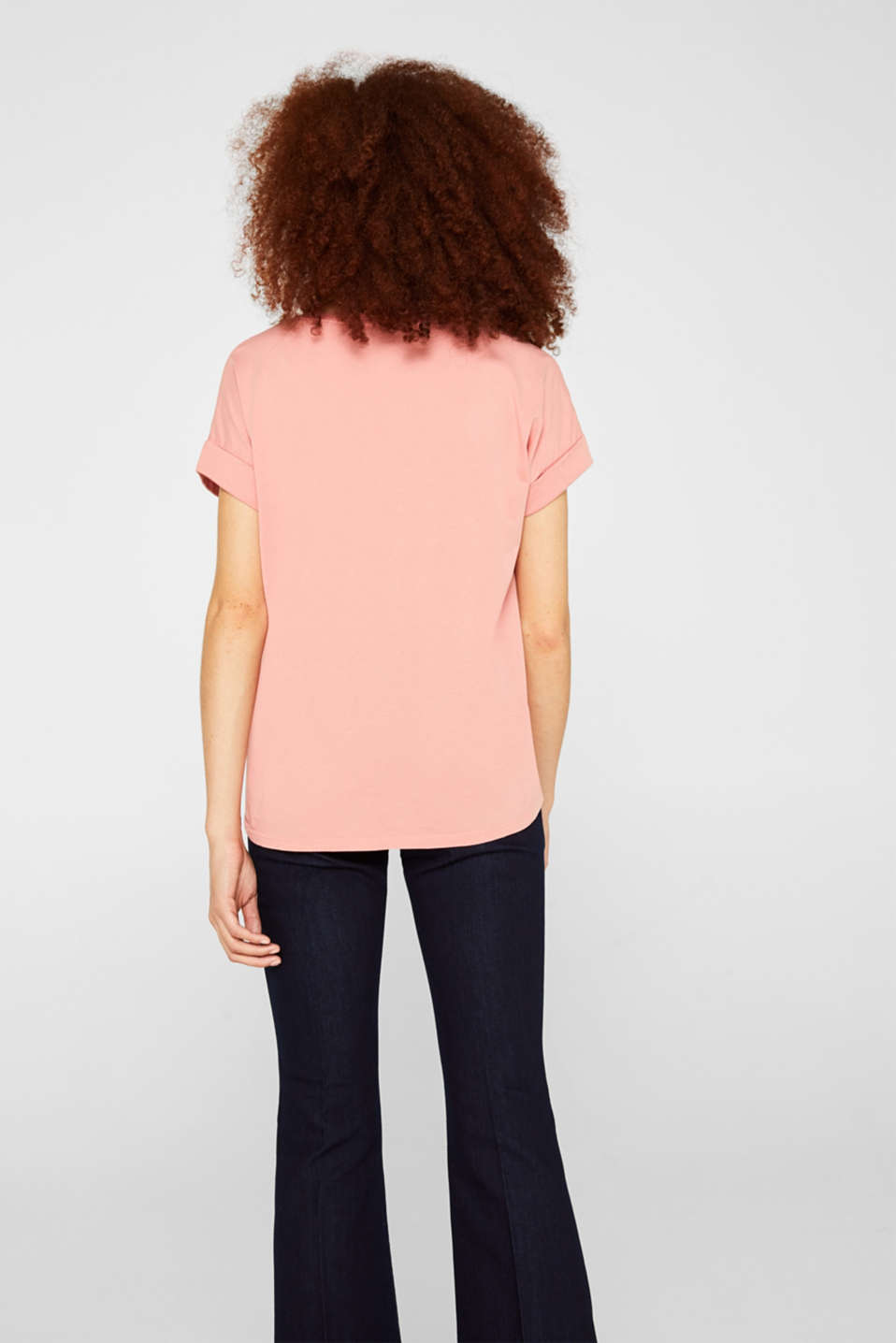 T-shirt with a casual cut, 100% cotton, BLUSH, detail image number 3