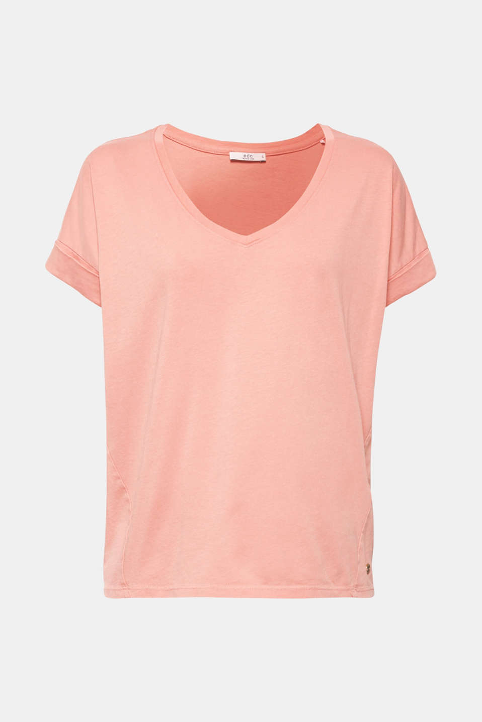 T-shirt with a casual cut, 100% cotton, BLUSH, detail image number 7