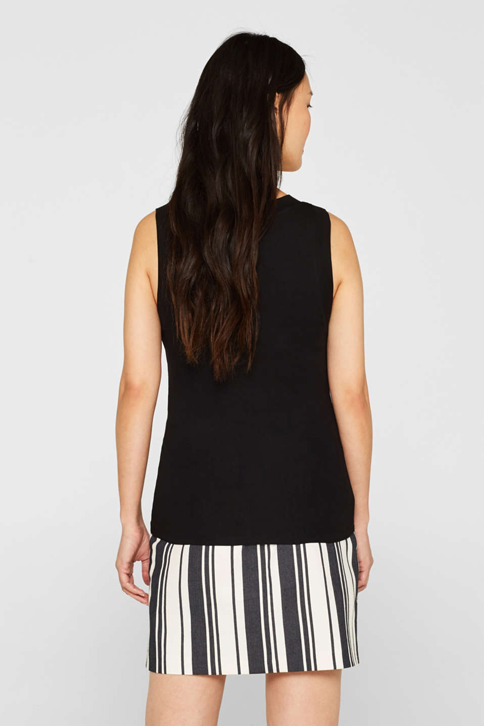 Stretch vest with organic cotton, BLACK, detail image number 3