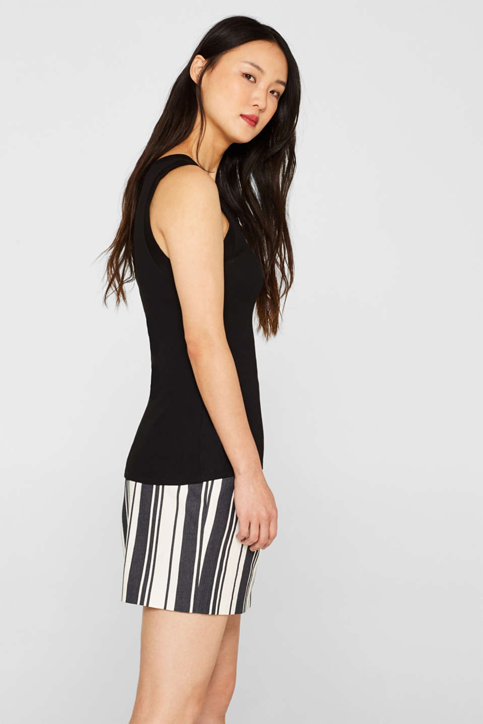 Stretch vest with organic cotton, BLACK, detail image number 5