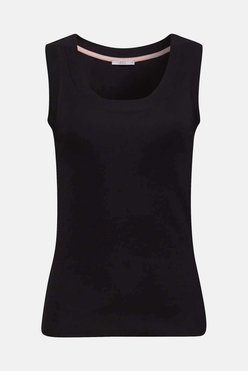 Stretch vest with organic cotton, BLACK, detail image number 7