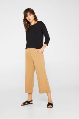Top in a garment-washed look, 100% cotton, BLACK, detail
