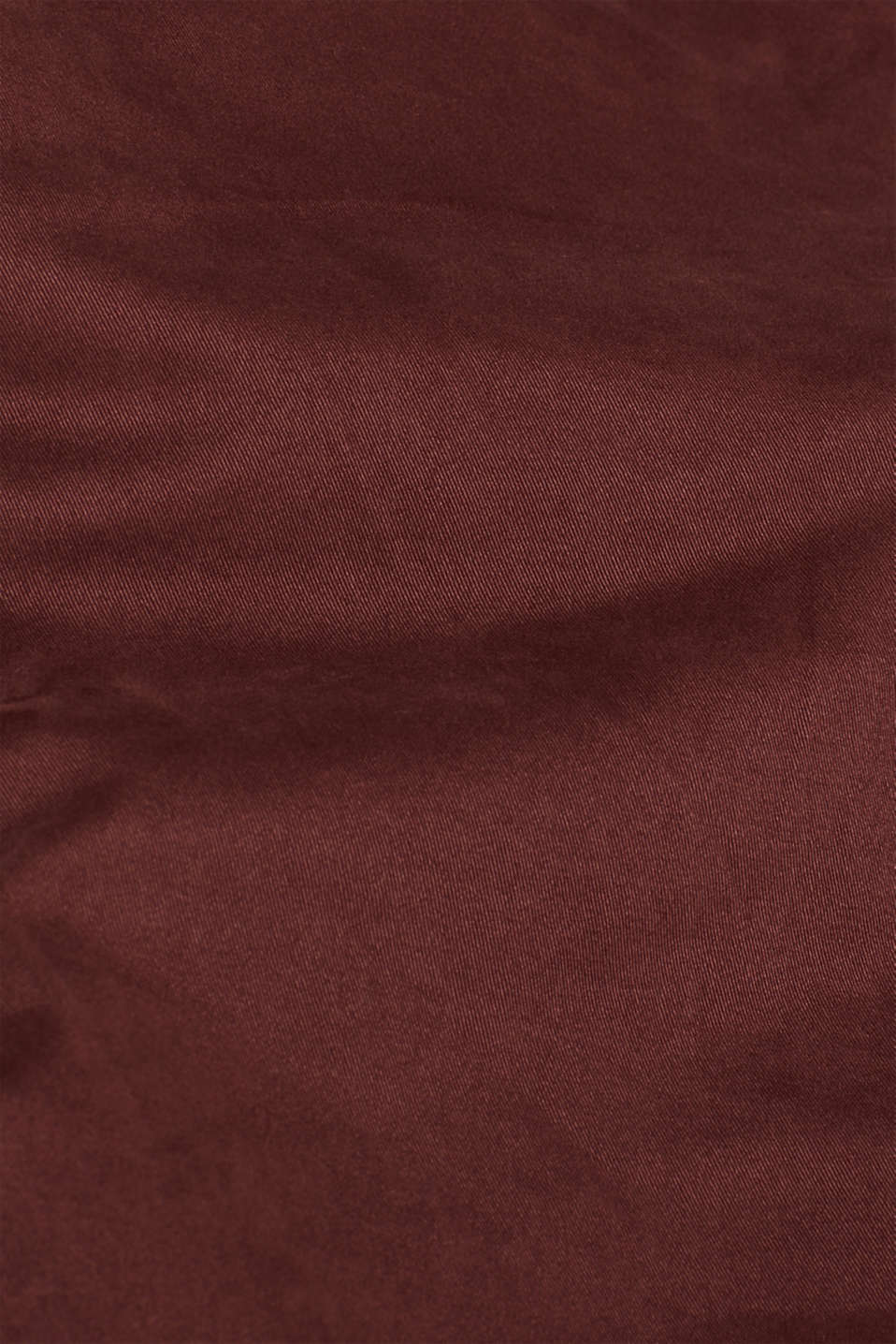 Trousers with a belt, stretch cotton, BORDEAUX RED, detail image number 4