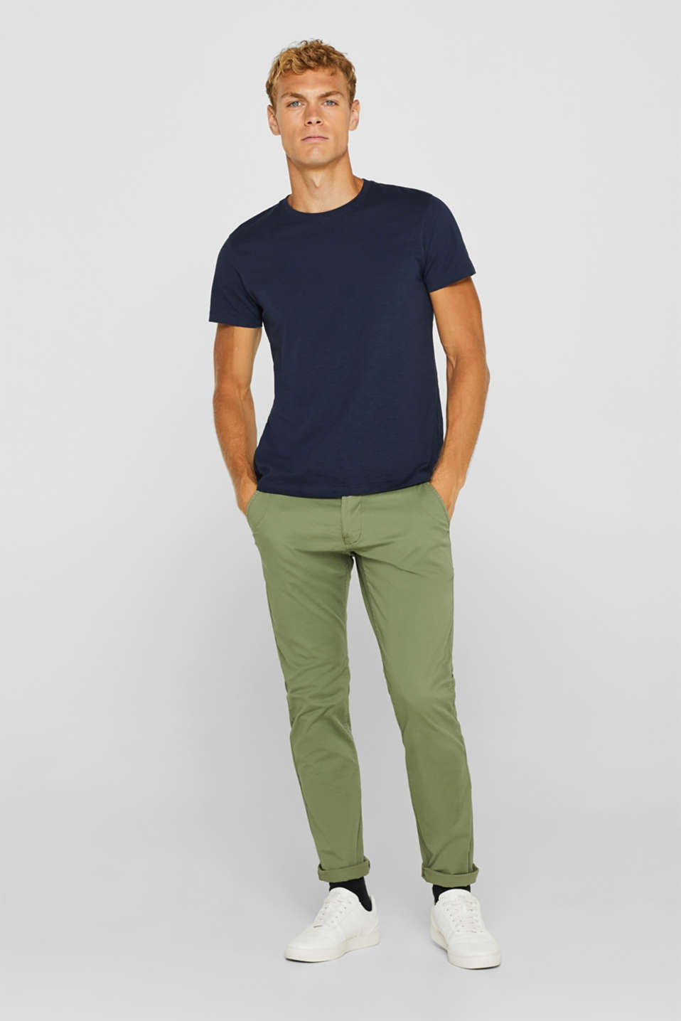 edc - Pantaloni chino in cotone stretch