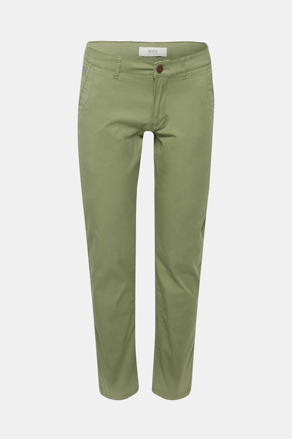 Stretch cotton chinos, OLIVE, detail image number 5