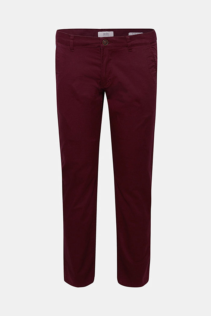 Chino aus Baumwoll-Stretch, PLUM RED, detail image number 0