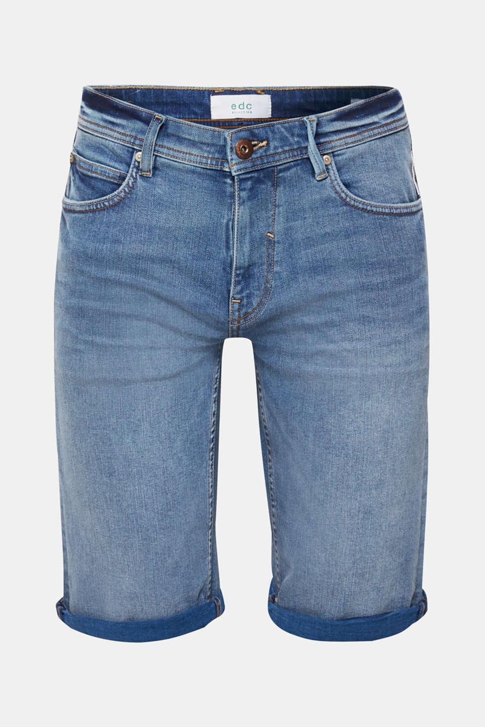 Shorts denim, BLUE LIGHT WASH, detail image number 6