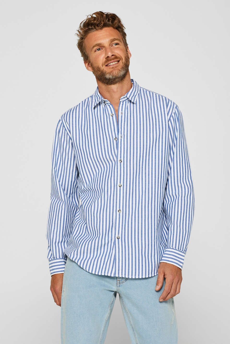 edc - Striped shirt, 100% cotton