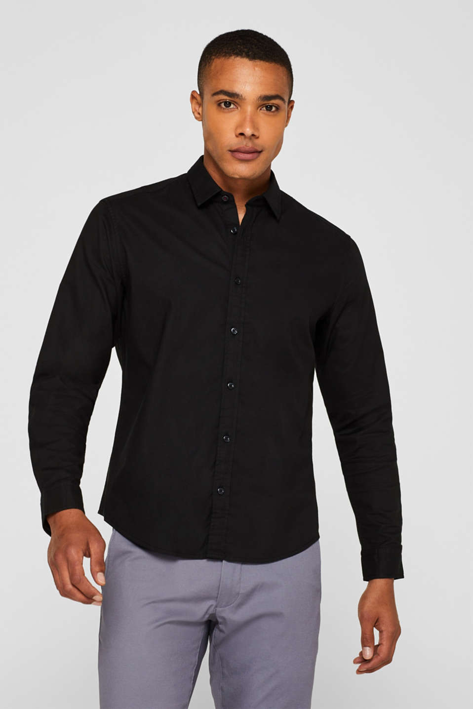 Shirts woven Slim fit, BLACK, detail image number 0