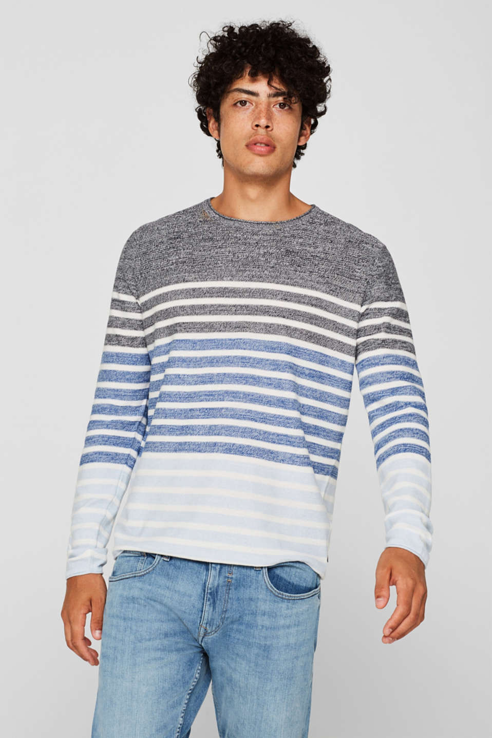 edc - Striped jumper, 100% cotton