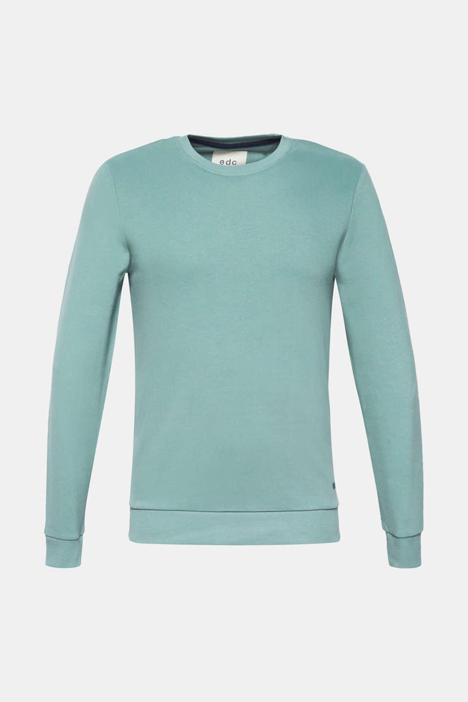 Sweatshirts, LIGHT AQUA GREEN, detail image number 5