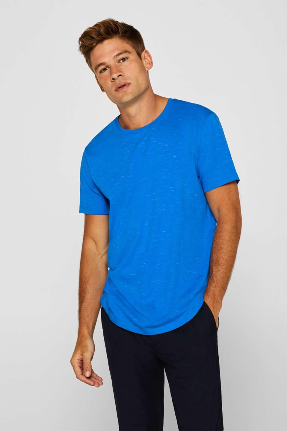Slub jersey T-shirt, BLUE, detail image number 0