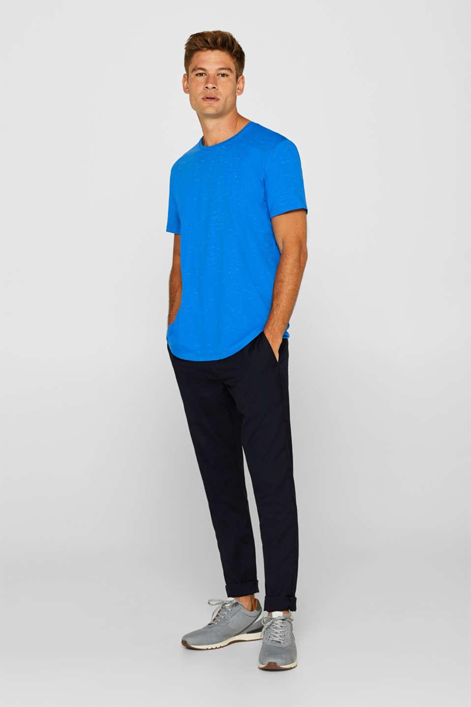 Slub jersey T-shirt, BLUE, detail image number 4