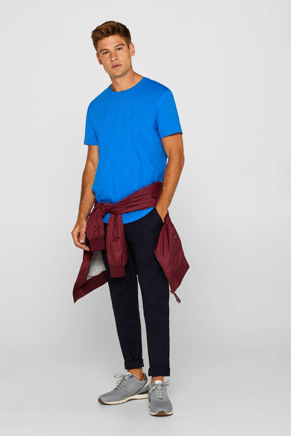 Slub jersey T-shirt, BLUE, detail image number 2
