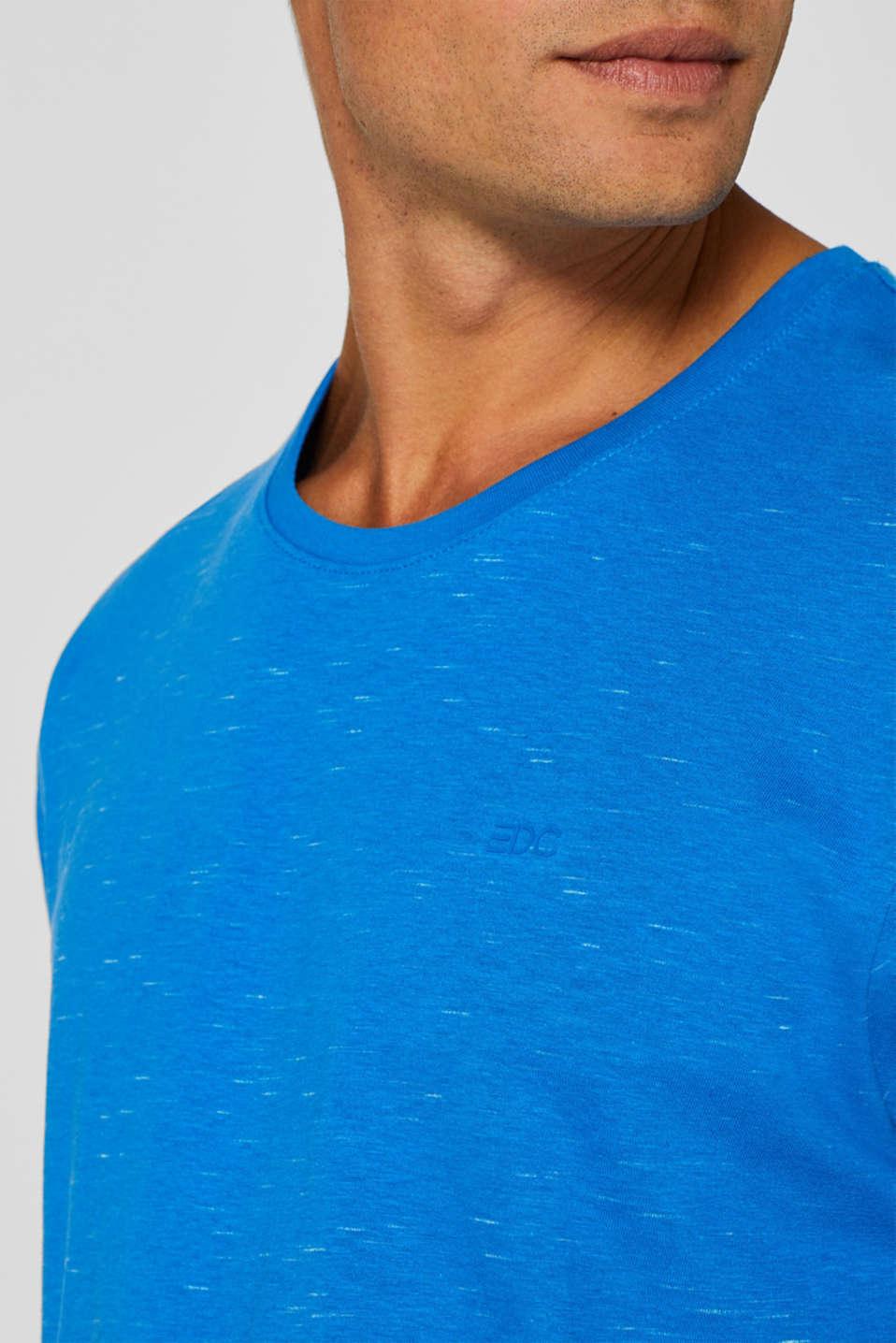 Slub jersey T-shirt, BLUE, detail image number 1