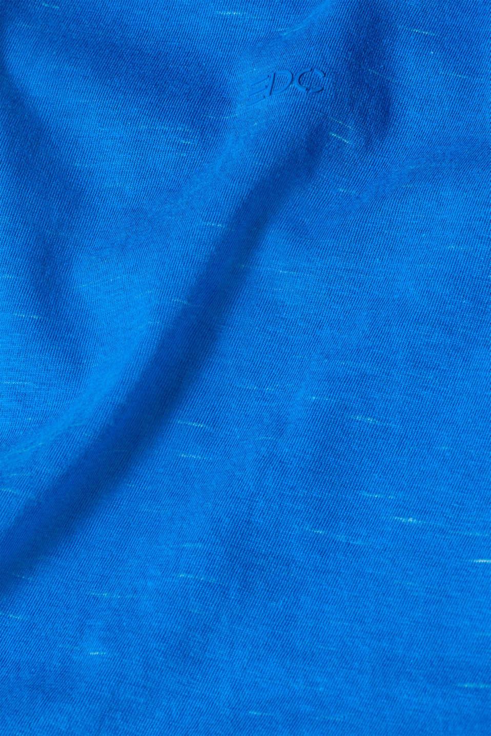 Slub jersey T-shirt, BLUE, detail image number 5