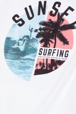 Jersey top with a summer print, 100% cotton