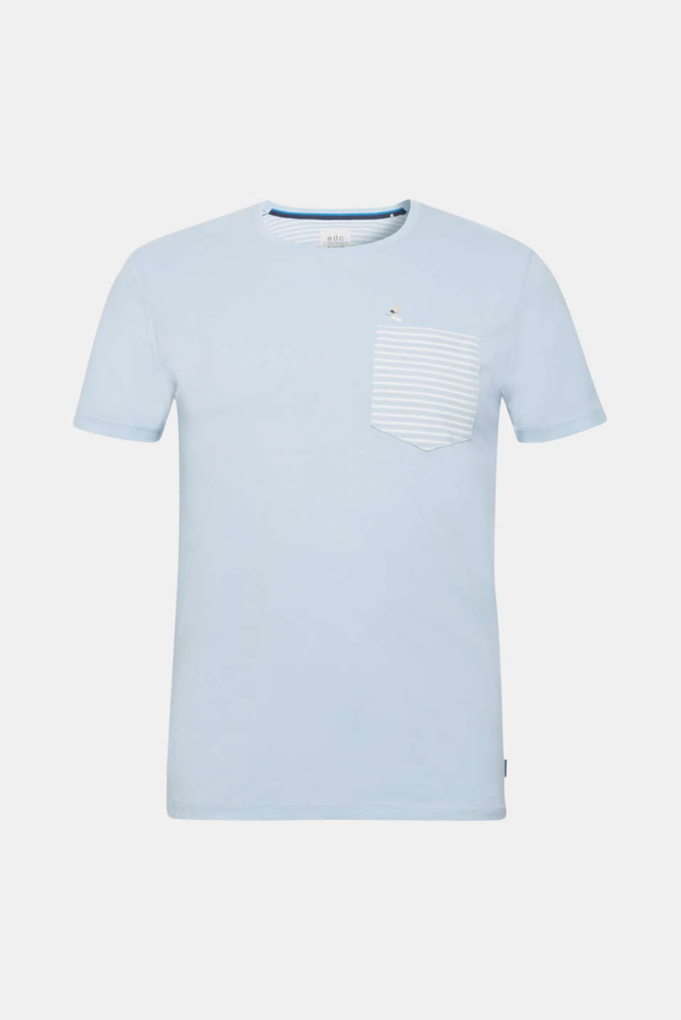 Jersey top with a breast pocket, made of 100% cotton, LIGHT BLUE, detail image number 7