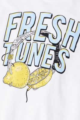 Jersey T-shirt with a fun print, 100% cotton