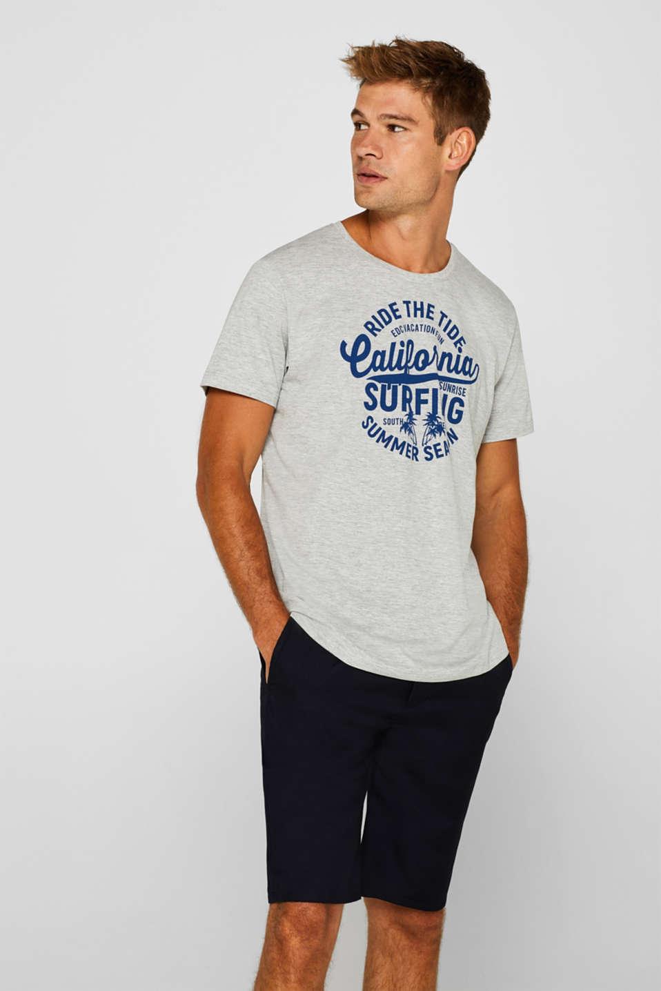 Melange jersey T-shirt, MEDIUM GREY, detail image number 0