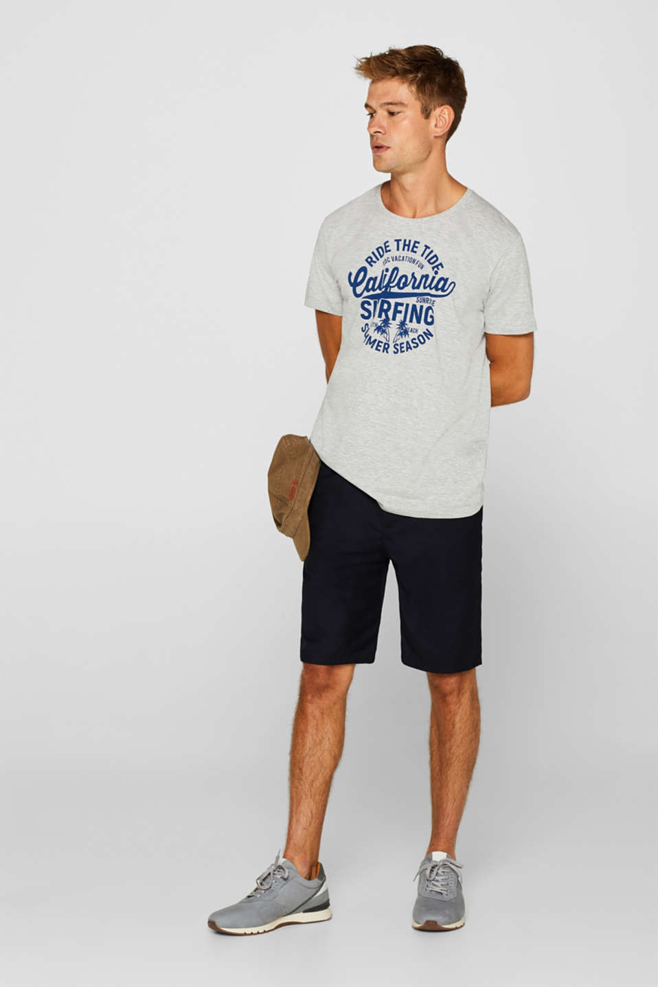 Melange jersey T-shirt, MEDIUM GREY, detail image number 2