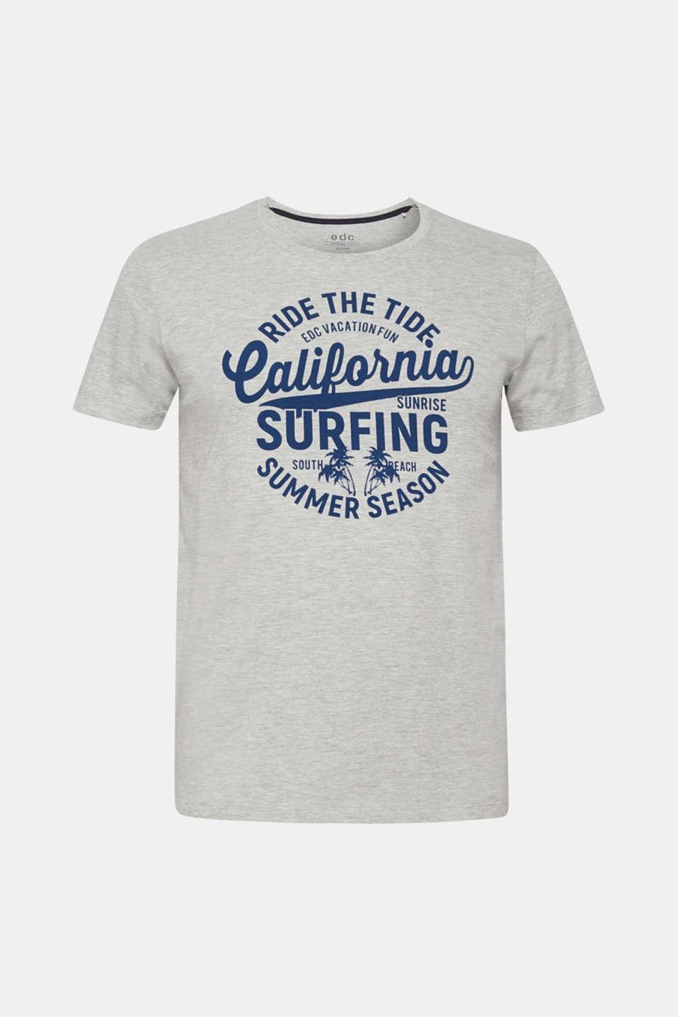 Melange jersey T-shirt, MEDIUM GREY, detail image number 6
