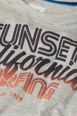 T-shirt with a surfer print, in melange jersey, MEDIUM GREY, detail
