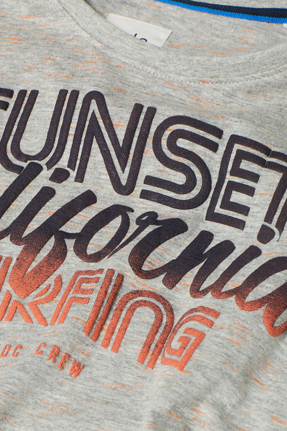 T-shirt with a surfer print, in melange jersey, MEDIUM GREY, detail image number 5