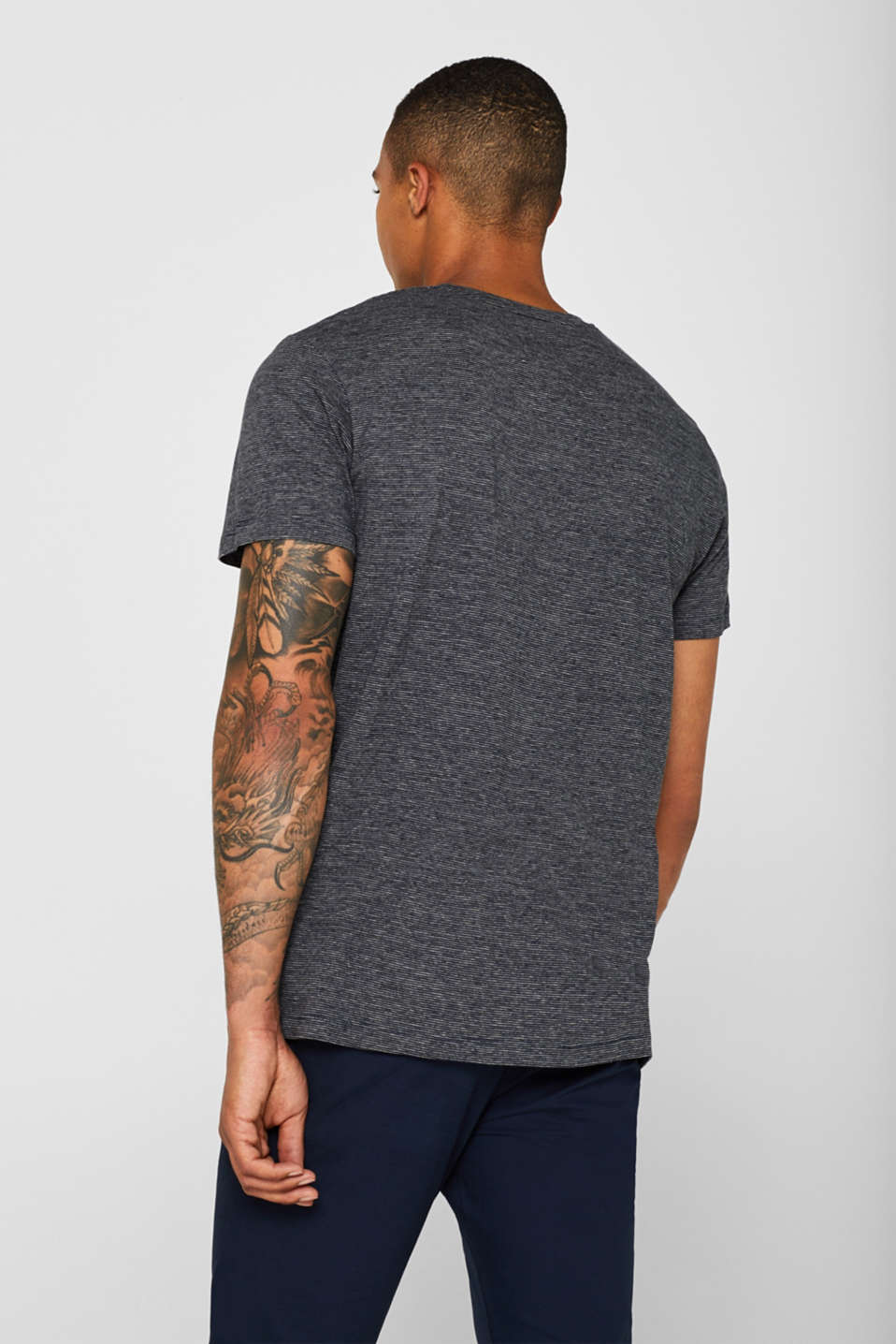 Striped jersey T-shirt with breast pocket, NAVY, detail image number 3